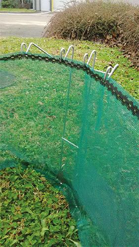 Filet-tricoté-vert-héliciculture